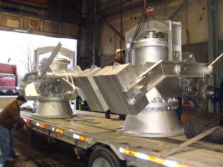 MANUFACTURE & TRANSPORTATION OF 28inch BLAST FURNACE BLEEDER VALVES DESIGNED & FABRICATED BY SSI